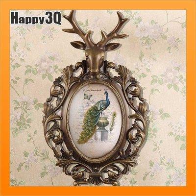 復古歐式鹿角鹿頭小鳥孔雀客廳臥室雕花家居擺設牆面掛飾-鳥/孔雀【AAA1481】預購