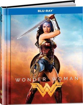 (全新未拆)神力女超人 Wonder Woman 3D+2D 限量書本收藏版藍光BD(得利公司貨)2017/9/22上市