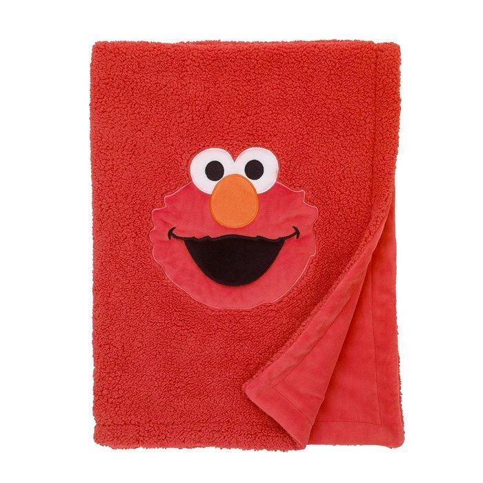 預購 美國嬰幼兒 Sesame Street Elmo 寶寶小毛毯 推車毯 外出毯 刷毛 柔軟 冷氣毯 生日禮