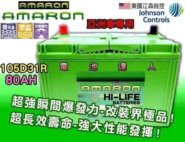 【鋐瑞電池】105D31R 愛馬龍 汽車 電池 DELICA 挖土機 現代 IX35 TDI 怪手 得利卡 限量100顆