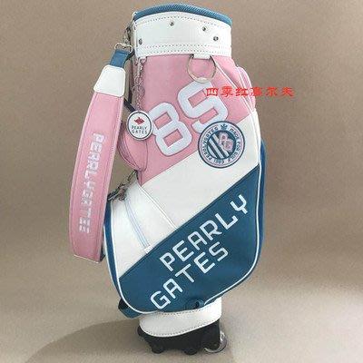 新款PEARLYGATES高爾夫球包拉桿滾輪笑臉時尚包男女通用包golf包