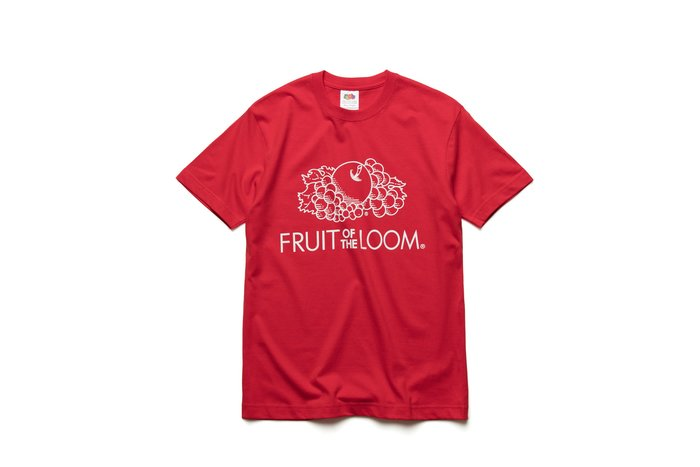 Fruit of the loom 經典LOGOT 水果牌 紅色