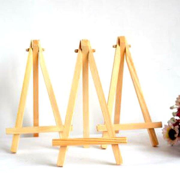 微型桌面三角畫架木質手機支架 手機座(小)【JI2317】《Jami Honey》