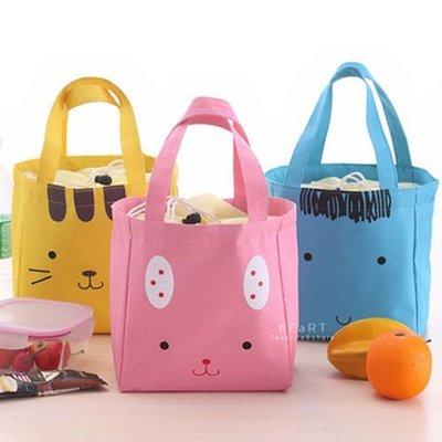 【可愛村】微笑動物帆布束口保溫保冷提袋...