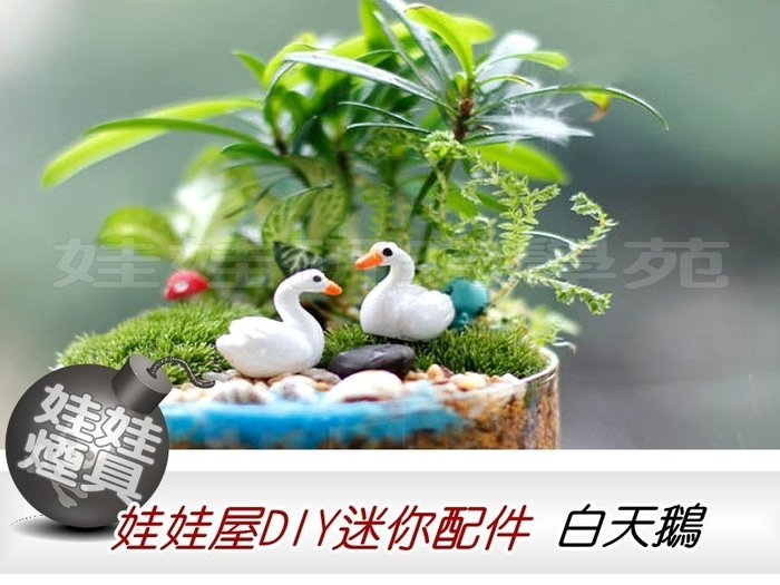㊣娃娃研究學苑㊣滿499元免運費 創意DIY 娃娃屋DIY迷你配件 白天鵝 單售 (DIY56)