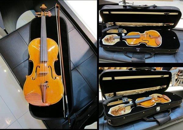 【名人推薦精品】RICA 高級小提琴(法式風格/手工刷漆/全手工製作/A級黑檀木配件1/2-4/4