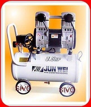 ☆SIVO電子商城☆JUN WEI 3.5HP 30L 無油式空壓機 超靜音 雙缸適合大樓/ 居家/ 辦公/ 實驗室使用 台北市
