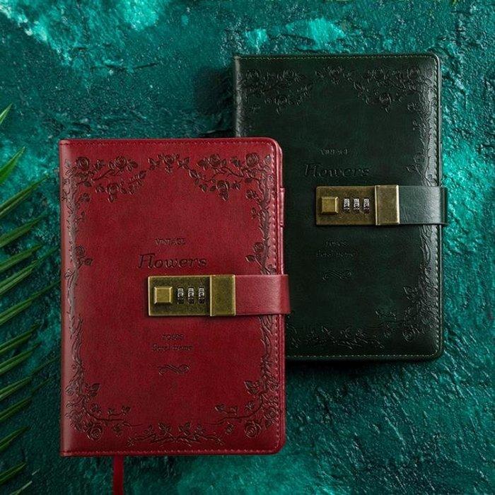 筆記本復古B6密碼本多功能帶鎖日記本創意手賬記事本文具