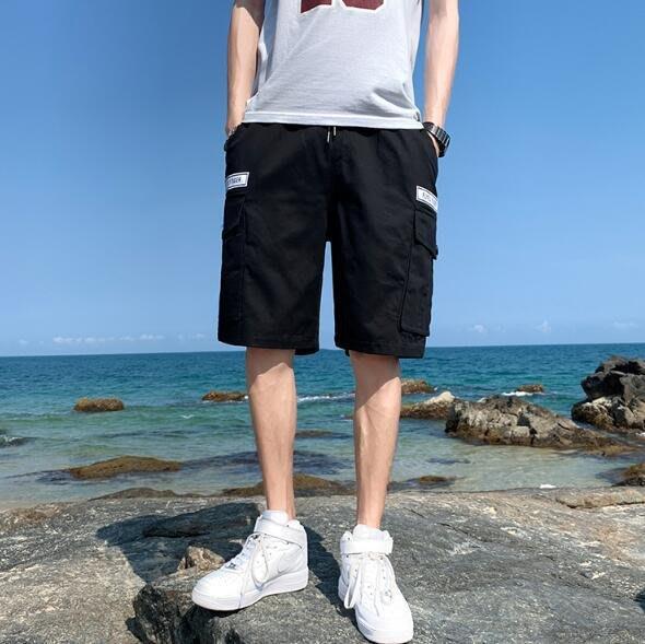 FINDSENSE X 休閒工裝短褲 多口袋 短褲 多袋 速幹 運動 男式 短褲