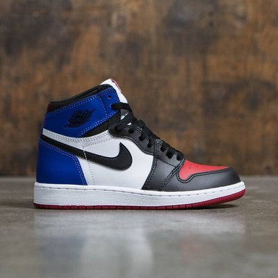Nike Air Jordan 1 Retro High OG BG Top 3喬丹575441-026黑紅藍鴛鴦AJ1
