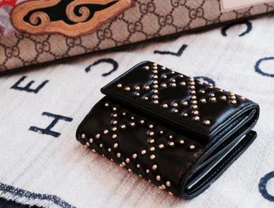 Dior S0002 wallet 卯釘短夾 黑