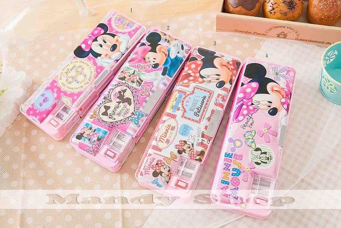 mandyshop【M2897】㊣ Disney迪士尼 / 米妮設計鉛筆盒 / 收納盒