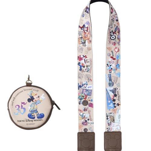 Ariel's Wish日本東京迪士尼Disney代購35週年35周年米奇復古懷舊紀念版相機背帶掛脖背繩附收納包絕版現貨