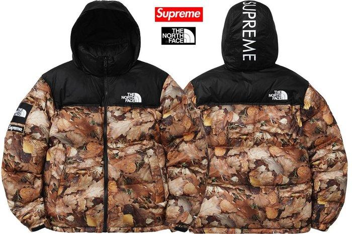【超搶手】2016 聯名Supreme The North Face Nuptse Jacket 羽絨外套 落葉 L