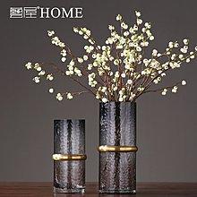 〖洋碼頭〗透明玻璃花瓶現代簡約美式樣板房創意家居裝飾品客廳插花花器擺件 ywj472