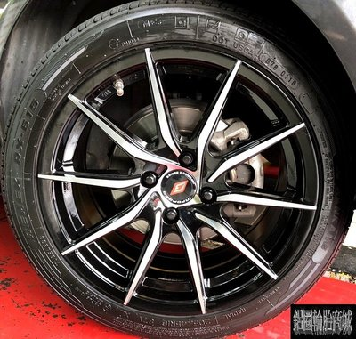 【CS-0412】全新鋁圈 16吋旋壓 黑底車亮面 4孔100 5孔114.3 ford fiesta 實裝圖