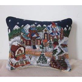 聖誕小鎮抱枕33*45CM(含枕芯)-7101004