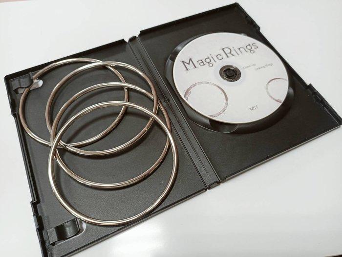【天天魔法】【S1241】正宗原廠~四連環(魔術環)~MAGIC RINGS CLOSE-UP TRICK DVD