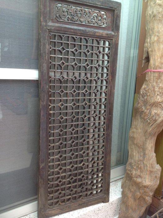 黑狗兄】老窗花門雕花門,木門,木窗,隔扇,屏風一件----H-011