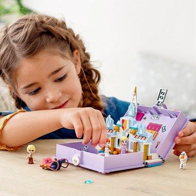 @新風兒童益智積木 樂高積木43175迪士尼公主冰雪奇緣立體書女孩兒童益智拼裝玩具