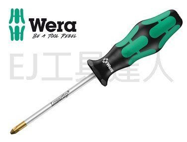 EJ工具《附發票》德國 Wera 350 PH2 × 150mm 十字起子 鍍鈦銀防滑牙