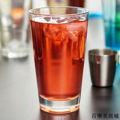 酒杯 玻璃杯 美國鋼化玻璃水杯果汁耐熱經典調酒卡扣廳杯多功能杯6只全館免運中
