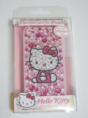 天使熊小鋪~日本帶回Hello kitty iphone4手機套 水晶保護套 超可愛喔 ~