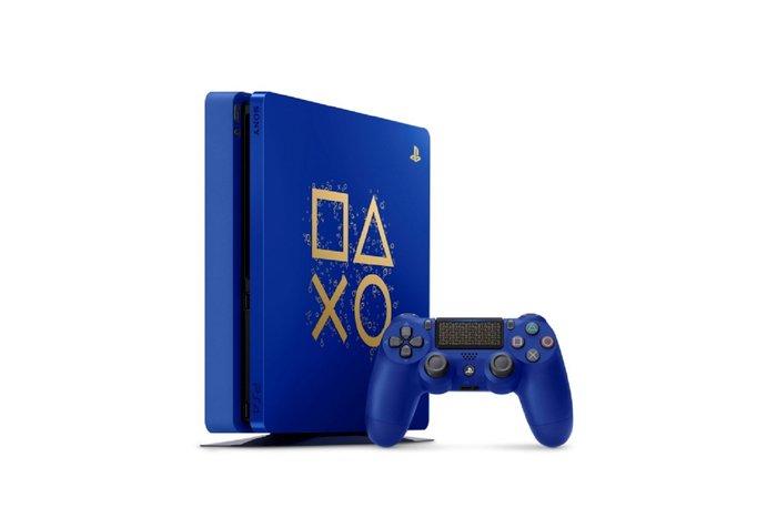 台中電玩小舖~PS4 SLIM 500GB Days of Play 特仕藍色主機送 NBA 2K18 遊戲片& 模型車