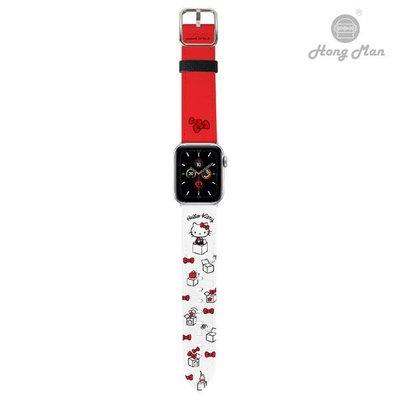 [正版]三麗鷗系列 Apple Watch 皮革錶帶 Hello Kitty (銀)