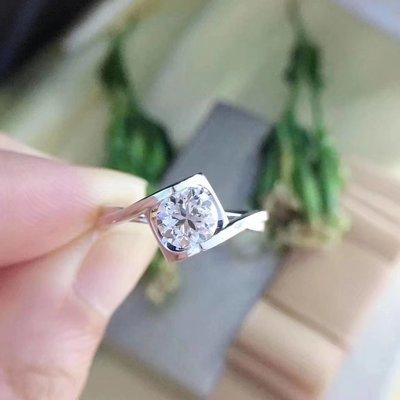 【1.002ct 南非鑽石戒指, 顯鑽大款💍 I-J color, VS級別, 18K白金鑲嵌】珠寶首飾介指吊墜吊咀