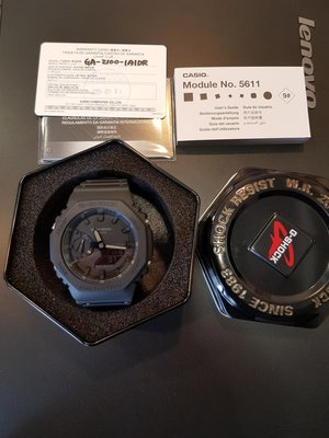 台灣公司貨 CASIO G-SHOCK GA-2100 1A1 全黑