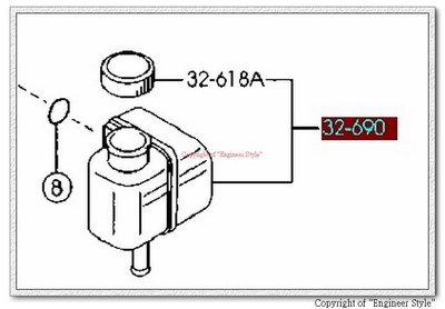 [正廠][油壓幫浦油壺/動力幫浦油壺/方向機油壺][適用:MAZDA 6/馬6 02- ][日本製]
