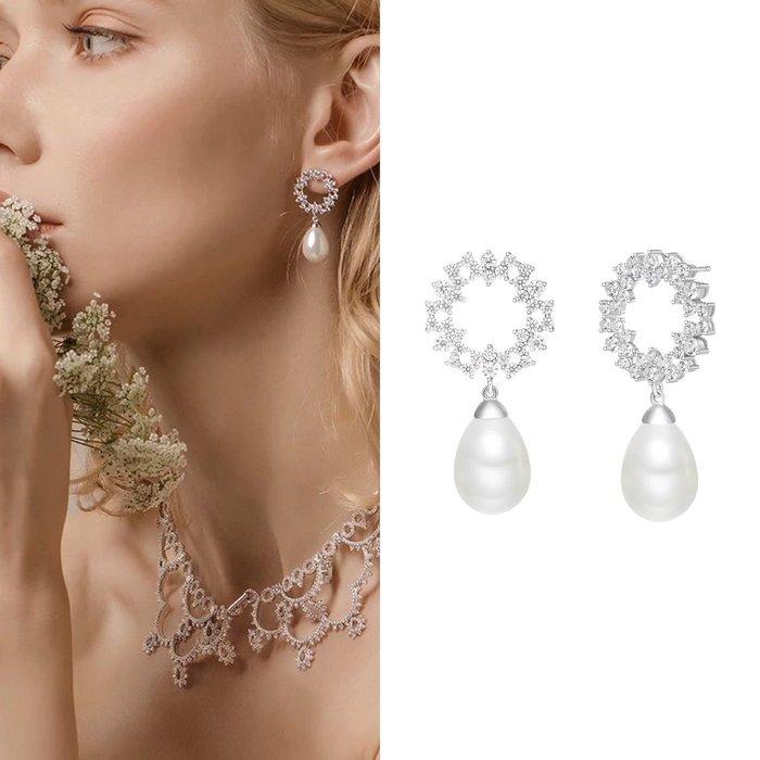 💎1092、哥德蕾絲系列 女神雅緻高貴花環耳環💎正韓 飾品 空運 珠寶 耳環 ED035