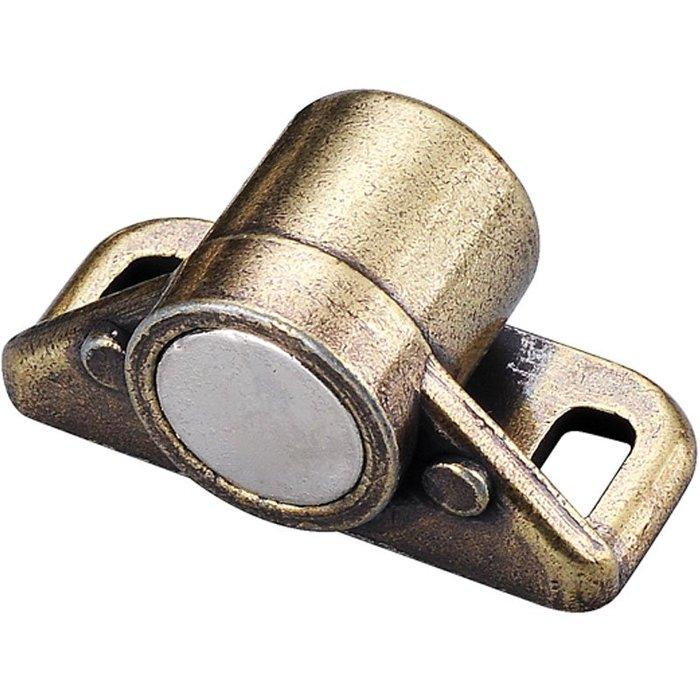 衣萊時尚-仿古銅櫥柜門吸衣柜門卡扣碰珠彈簧珠加厚磁吸家具柜碰重型柜碰珠
