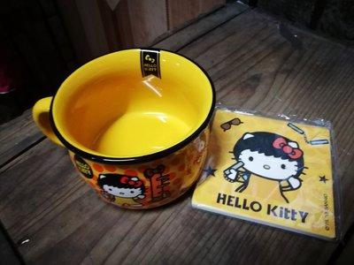 7-11Hello kitty 柄型湯碗+陶瓷墊 中國功夫 李小龍