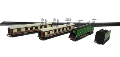 [現貨/鐵道迷最愛] 袖珍經典蒸汽火車套裝 黃金之箭 The Golden Arrow 1/220 Z比例 仿真火車模型
