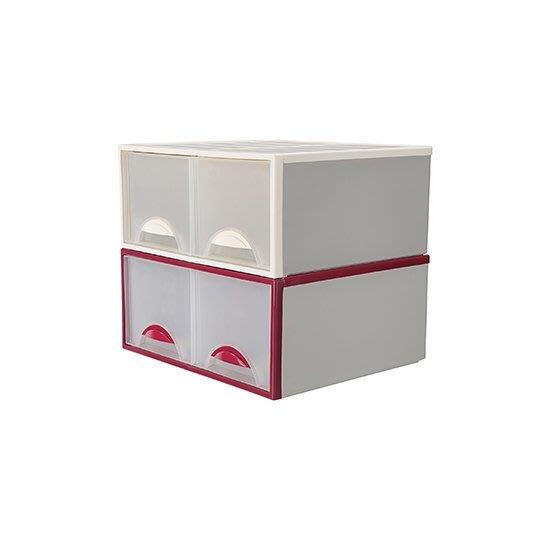 K0982 單層櫃大容量 32公升 收納箱 置物櫃 收納櫃 2格抽屜整理箱 KEYWAY [金生活]