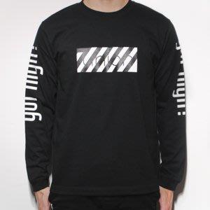 【AXE】7UNION -SLANT UNION LONG TEE長袖T恤[黑]西岸 滑板 潮流 塗鴉 日牌 素T 特價