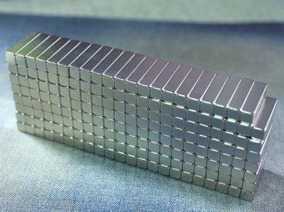 釹鐵硼強力磁鐵-20mmx5mmx5mm-留言板黏小東西超好用@萬磁王@