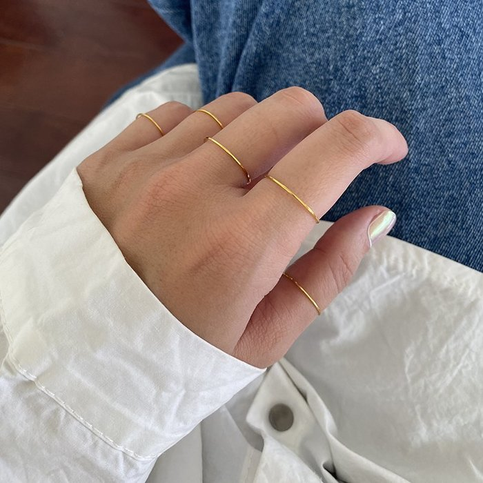 0.5mm極細戒指 裸戒 [鈦鋼] 保色 防過敏 【IM002】