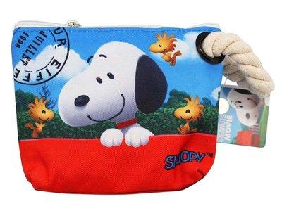 【卡漫迷】 Snoopy 梯型 化妝包...