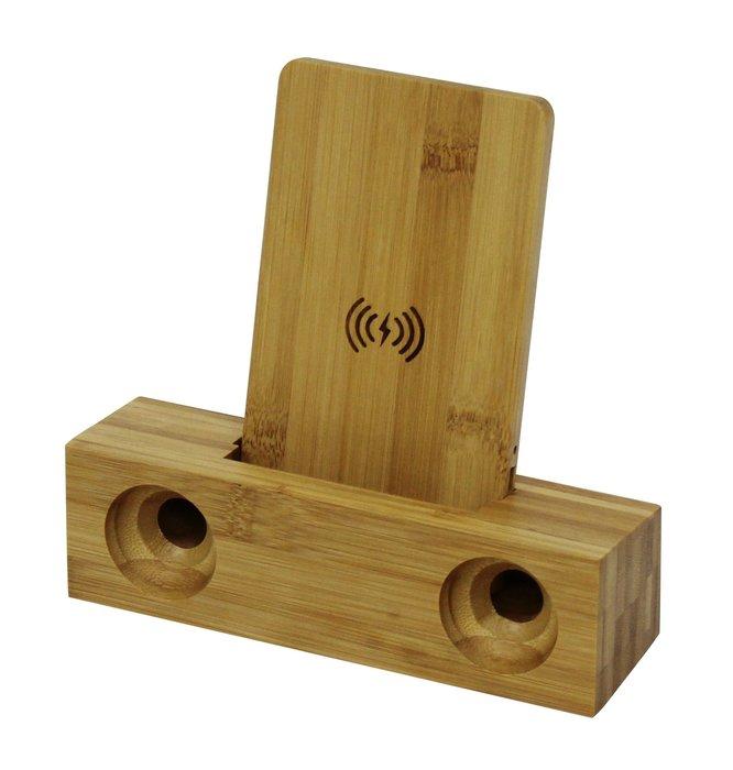 無線充電 擴音 竹製 手機 無線 充電 支架底座 充電盤 iphone無線充電器 用於 i11 SE2 三星