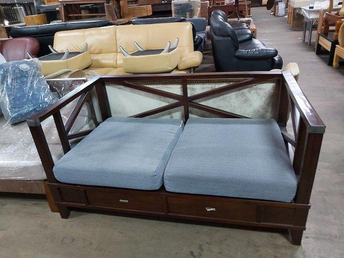 巨業搬運寄倉=更新二手倉庫 木頭沙發 2人沙發 木沙發 3二人沙發