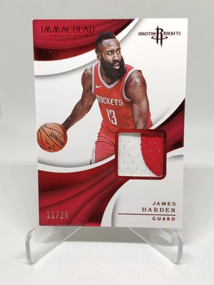 17-18 IMMACULATE COLLECTION JAMES HARDEN 限量25張 PATCH ROCKETS