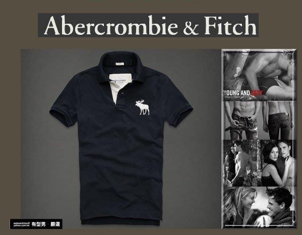 有型男~ A&F Abercrombie&Fitch 旗艦店大麋鹿 polo Hebert Brook navy  深藍