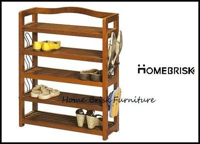 【宏興HOME BRISK】實木2.1尺開放式鞋架+鞋叉/鞋櫃,《HN新品15》
