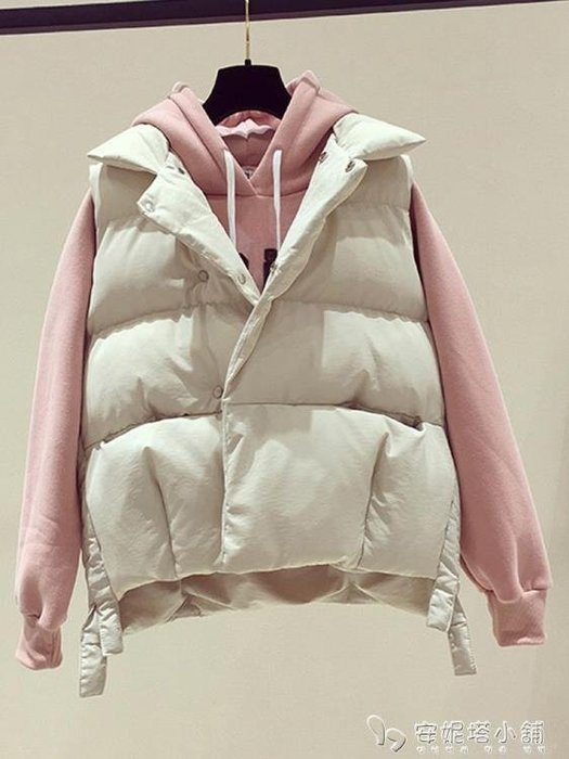 棉馬甲女秋冬短款新款 羽絨棉背心學生外穿女士坎肩馬夾外套潮 全館免運