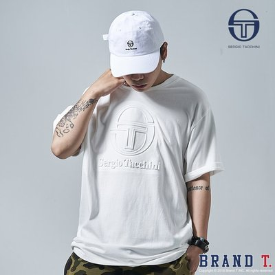 【Brand T】SERGIO TACCHINI EMBOSS T-SHIRT 白色*浮凸*短袖*短T*義大利*網球