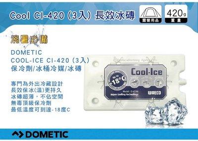 ||MyRack|| Dometic Cool Ice 長效冰磚 保冷劑 420g CI-420 (3入) 冰桶冷媒