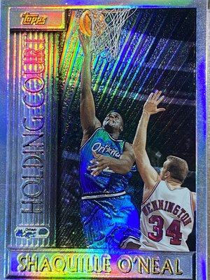96-97 TOPPS HOLDING COURT 俠客 Shaquille O'Neal 早期經典高比例 雷射彩虹亮卡